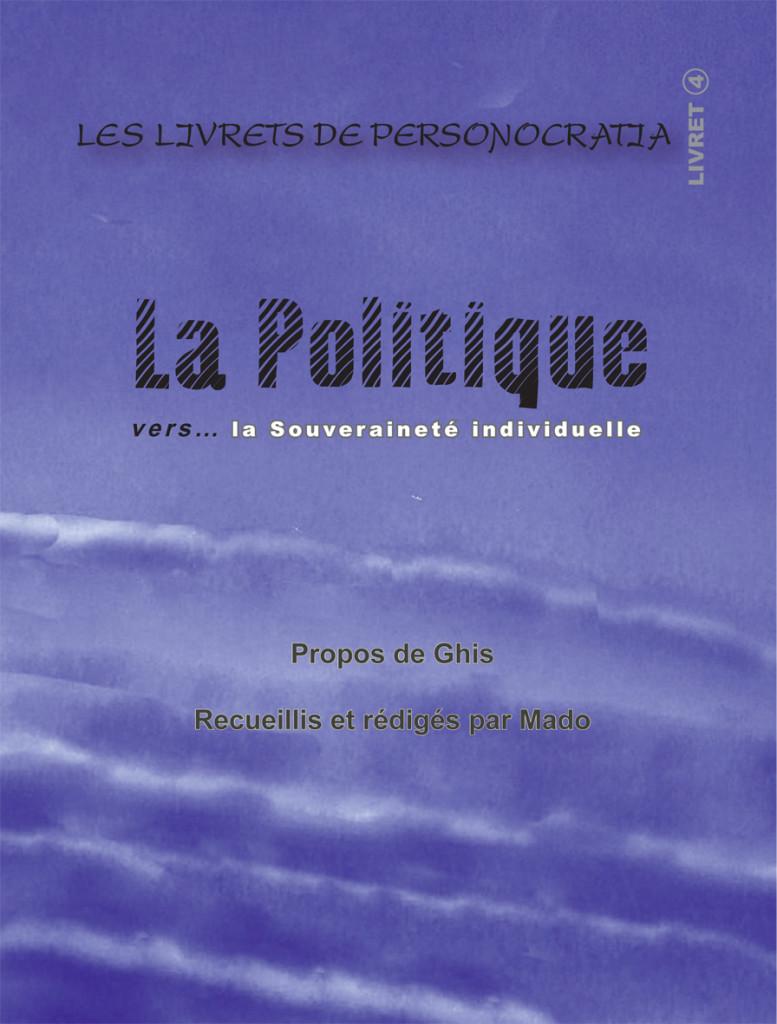 Livret La Politique- Plat de couverture