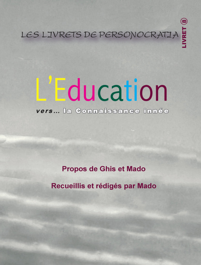 Livret L'Education- Plat de couverture
