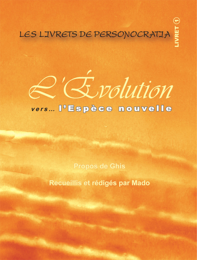 Livret L'Evolution- Plat de couverture